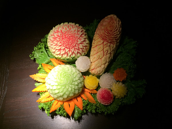 Grace's fruit carving
